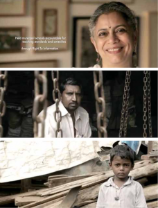 "Still images taken from ""India Needs a Superhero"" FOI public service video (bit.ly/2xFMn1s)."