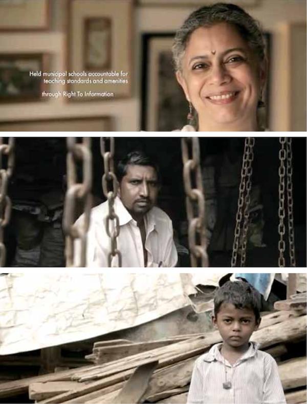 "Still images taken from ""India Needs a Superhero"" FOI public service video (bit.ly/2xFMn1s)."