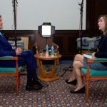 Margaret Brennan of CBS News interviewing former Secretary of State John Kerry in 2015. (Photo: US Department of State/Flickr)